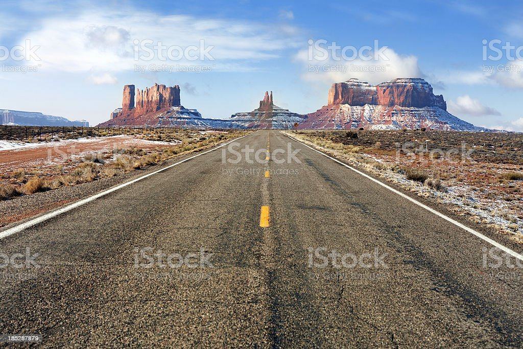 \'The view towards Monument Valley, which located in Utah and Arizona...