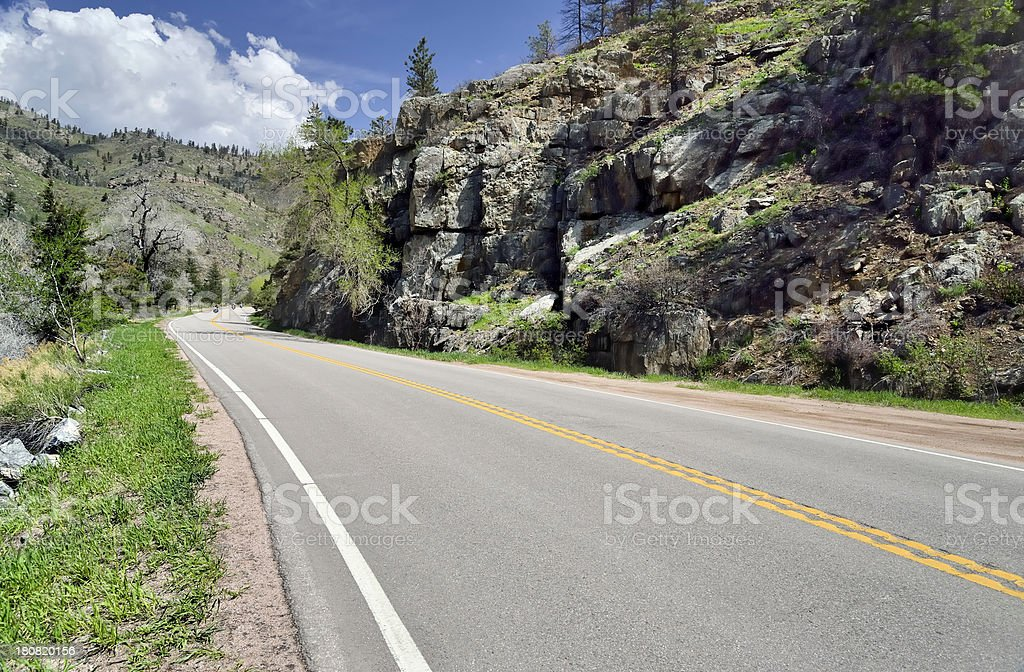 Road Into Poudre Canyon royalty-free stock photo