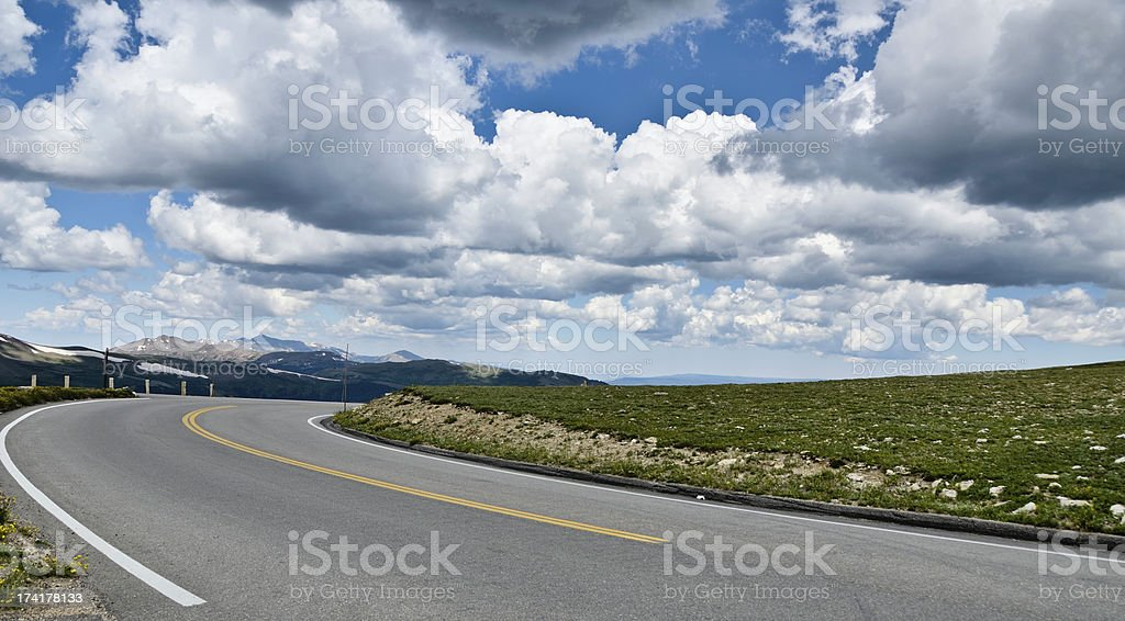 Road Into Rocky Mountain National Park royalty-free stock photo