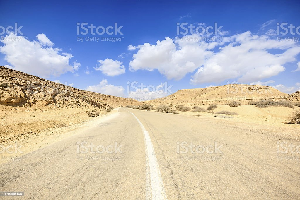 Road into the desert royalty-free stock photo