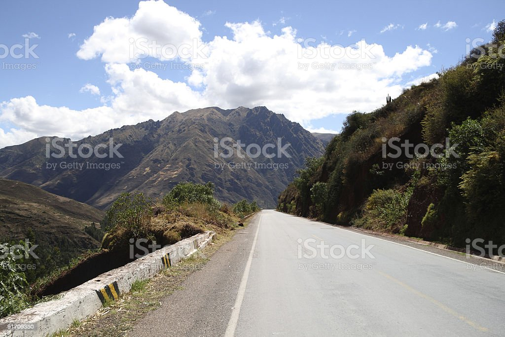 Road into the Sacred Valley, Nr Cuzco, Peru royalty-free stock photo
