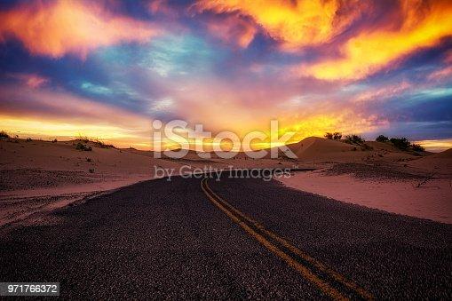 sunset at monohans sandhills state park, Texas