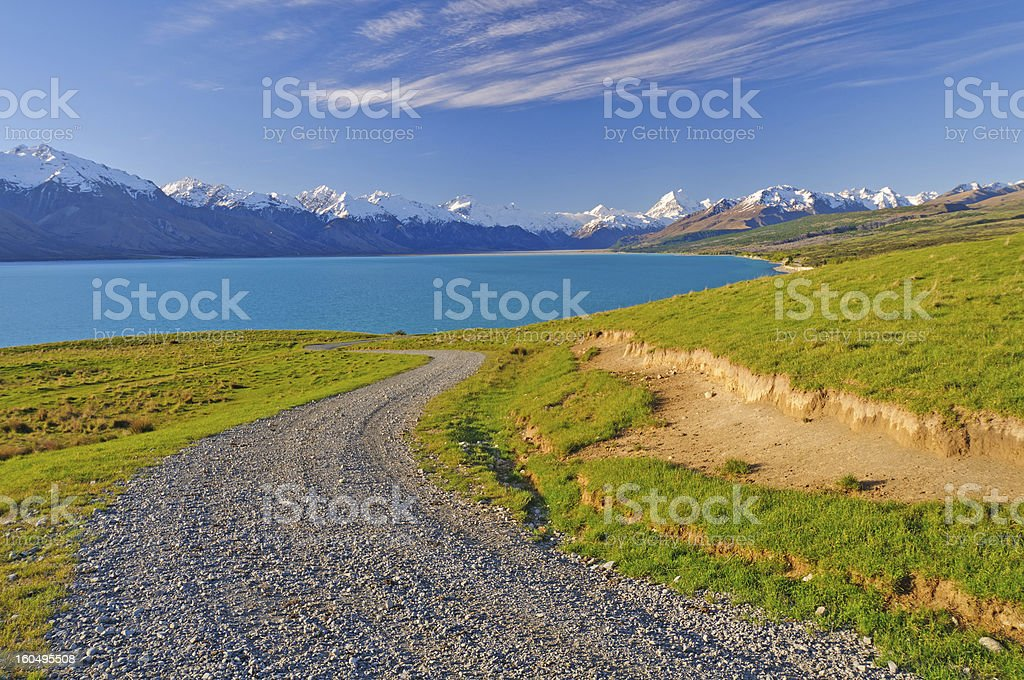 Road into the wilderness royalty-free stock photo