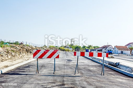 istock Road is closed 623269648
