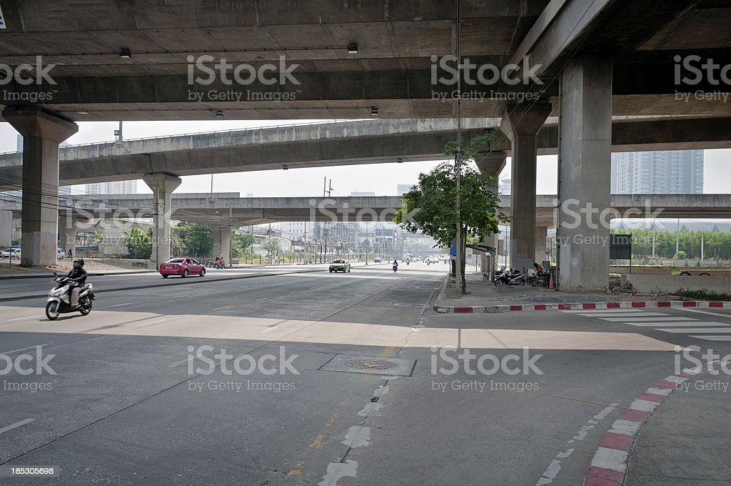 Road Junction In Krung Thep (Bangkok), Thailand royalty-free stock photo