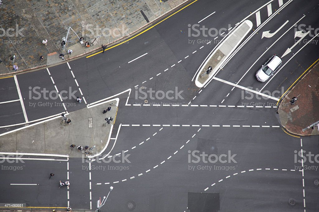 Road junction royalty-free stock photo