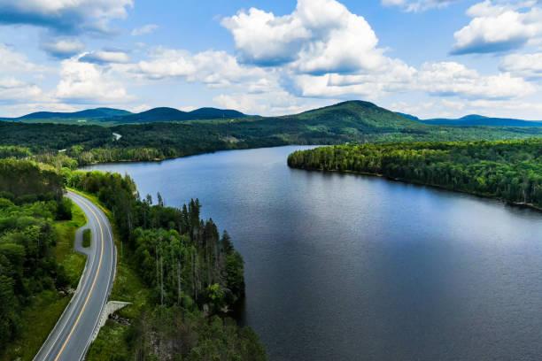 Road, Lake, Green Mountains, Vermont, USA – Foto