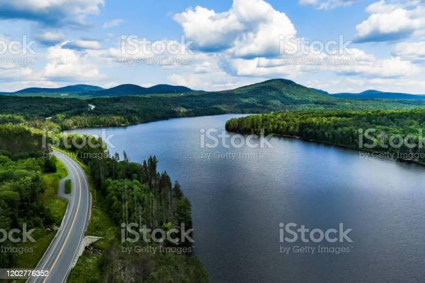 Photo of Road, Lake, Green Mountains, Vermont, USA