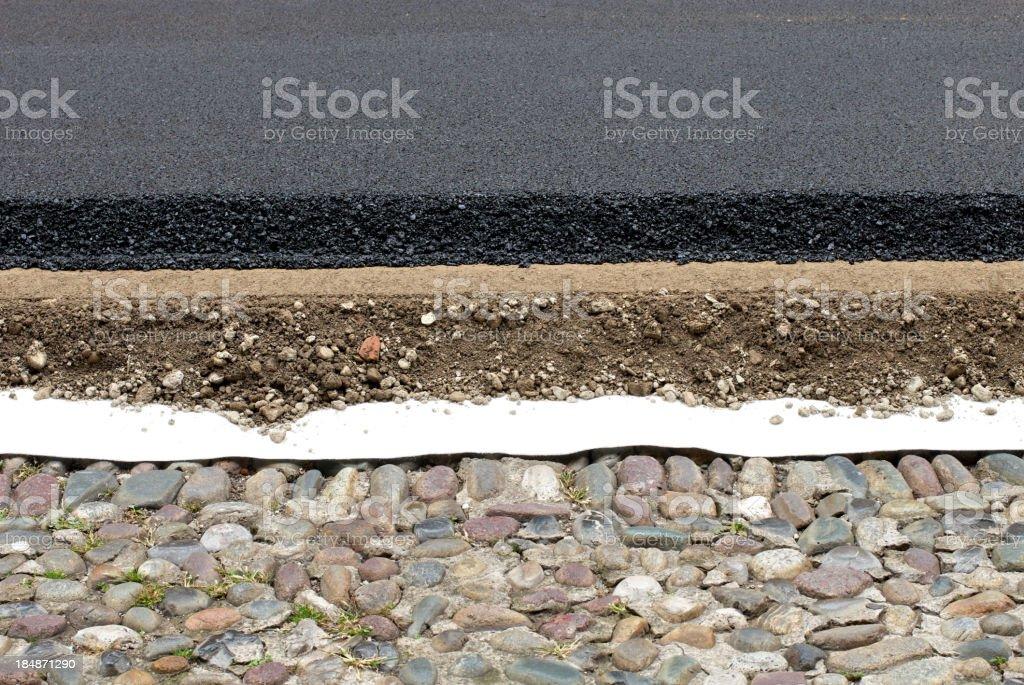 Road layers stock photo