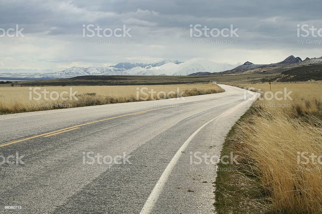 Road Leading into the Distance royalty-free stock photo