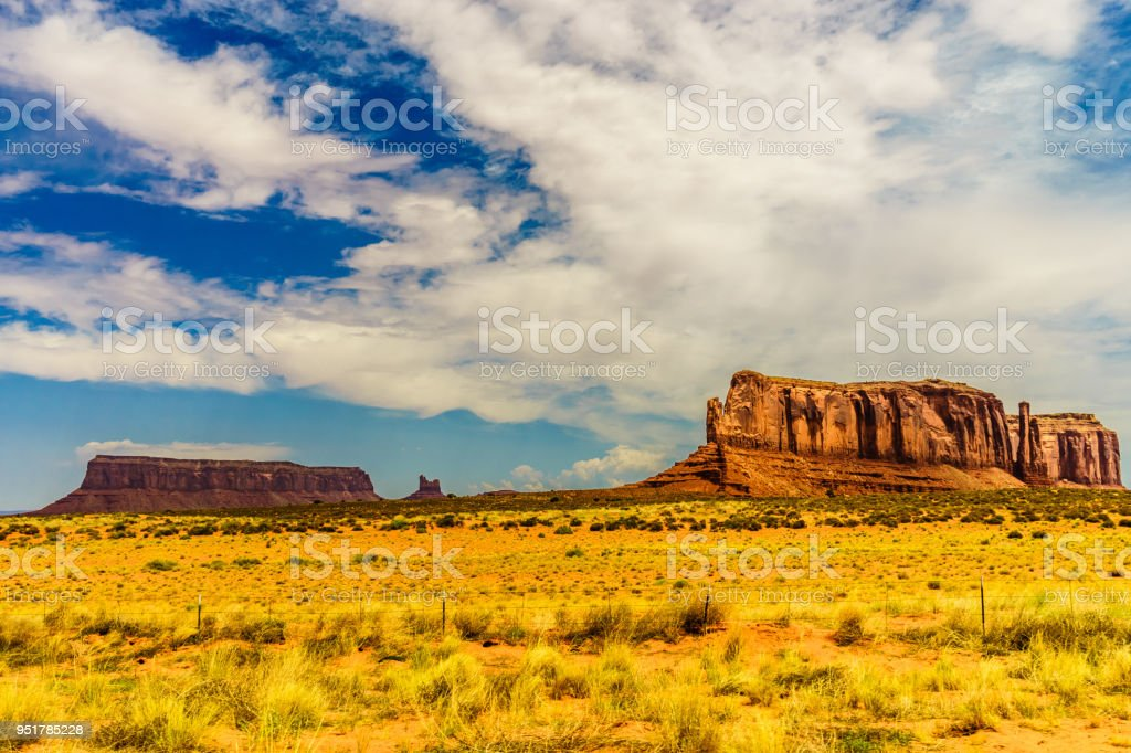 A road leading to Monument Valley stock photo