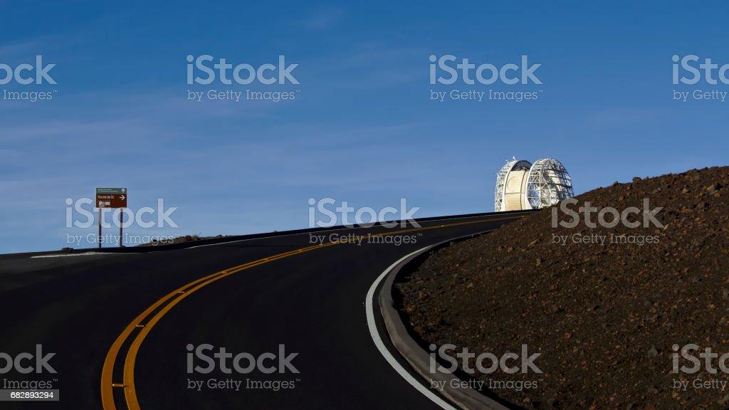Road leading to the Haleakala Observatory Lizenzfreies stock-foto
