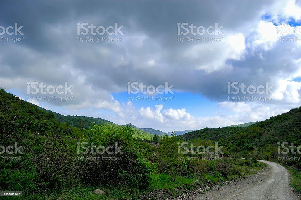 Road leaving in mountains royalty-free stock photo