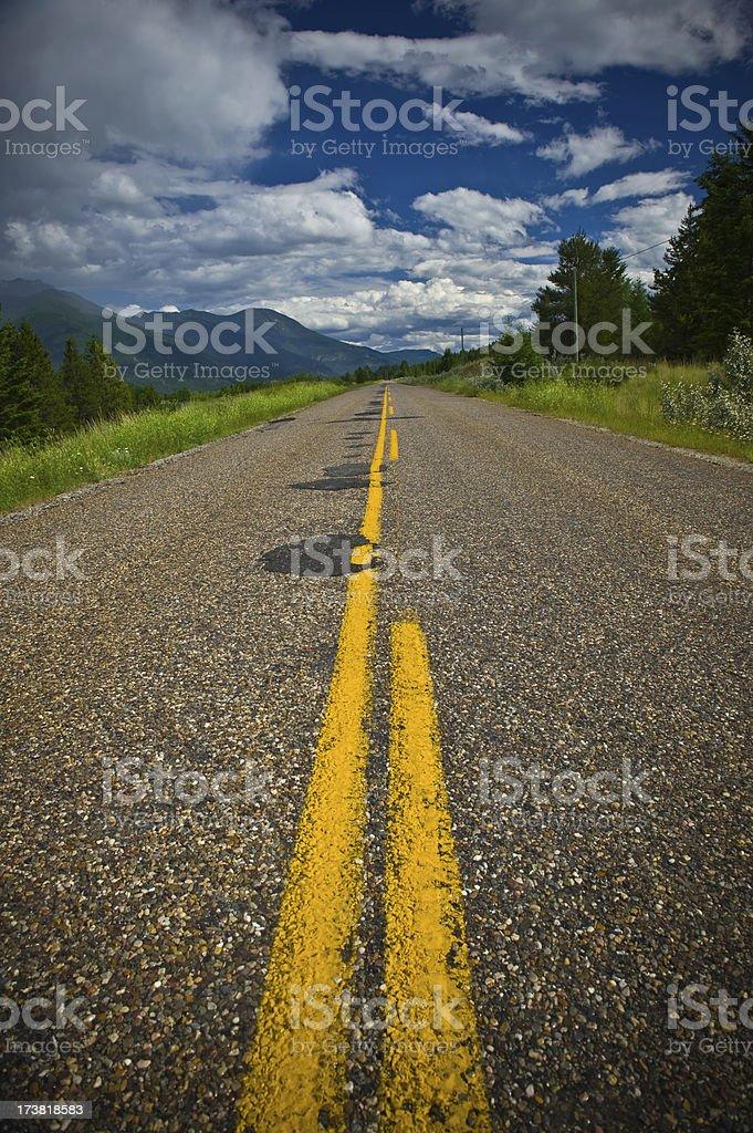 Road Less Traveled royalty-free stock photo