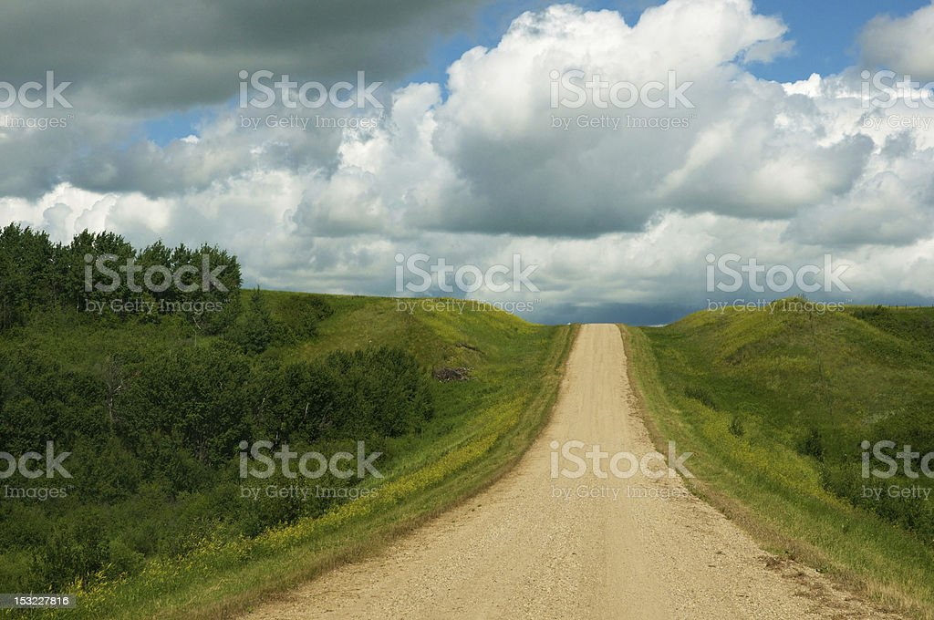 Road Less Travelled royalty-free stock photo