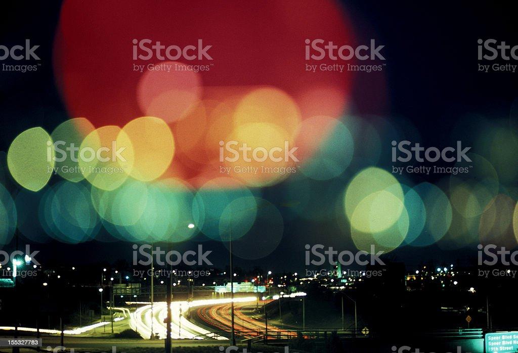 Road Lights, Denver, CO royalty-free stock photo