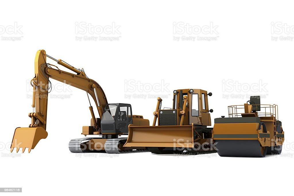 Road machinery set royalty-free stock photo