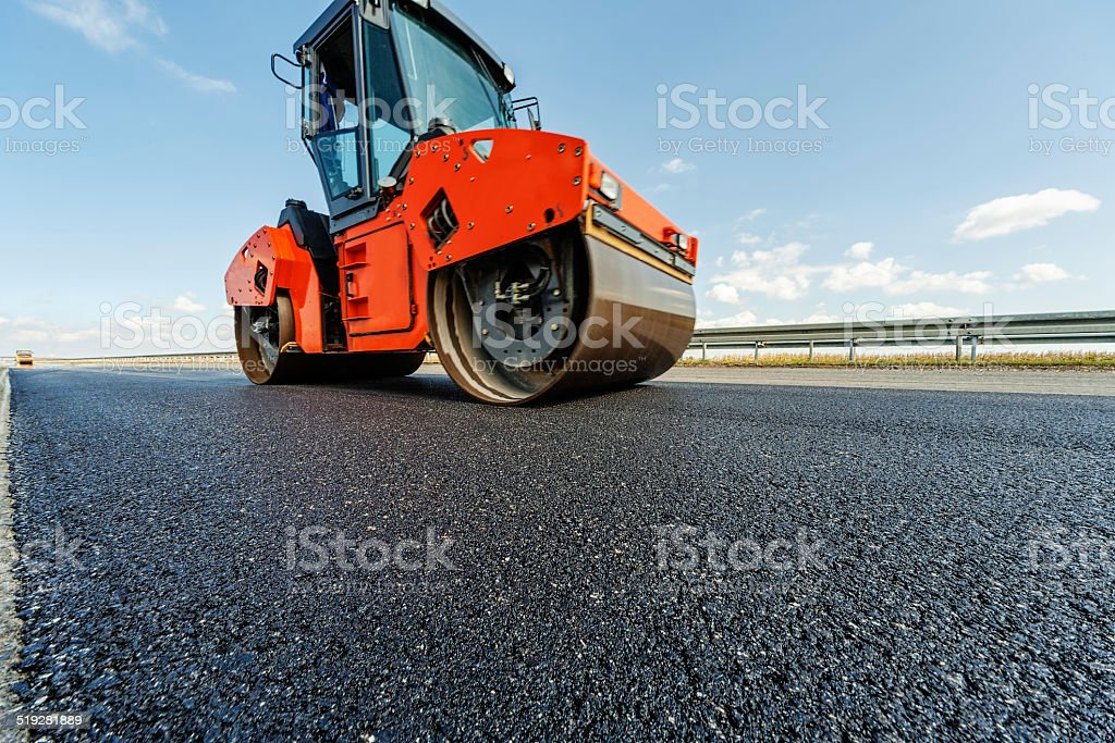 Road making stock photo