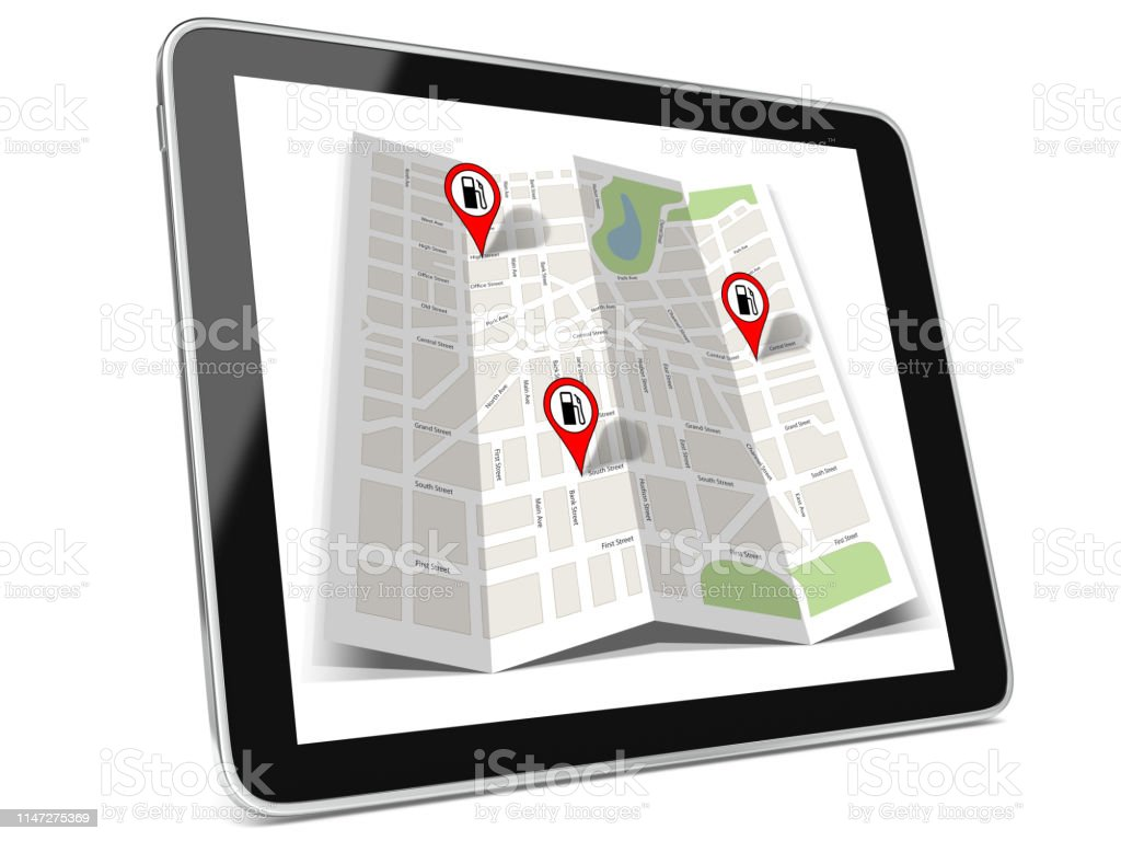 Navigate To The Closest Gas Station >> Road Map Gps Navigation Poi Location Fuel Gas Station Tablet