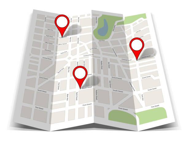 Fahrplan gps navigation poi location – Foto