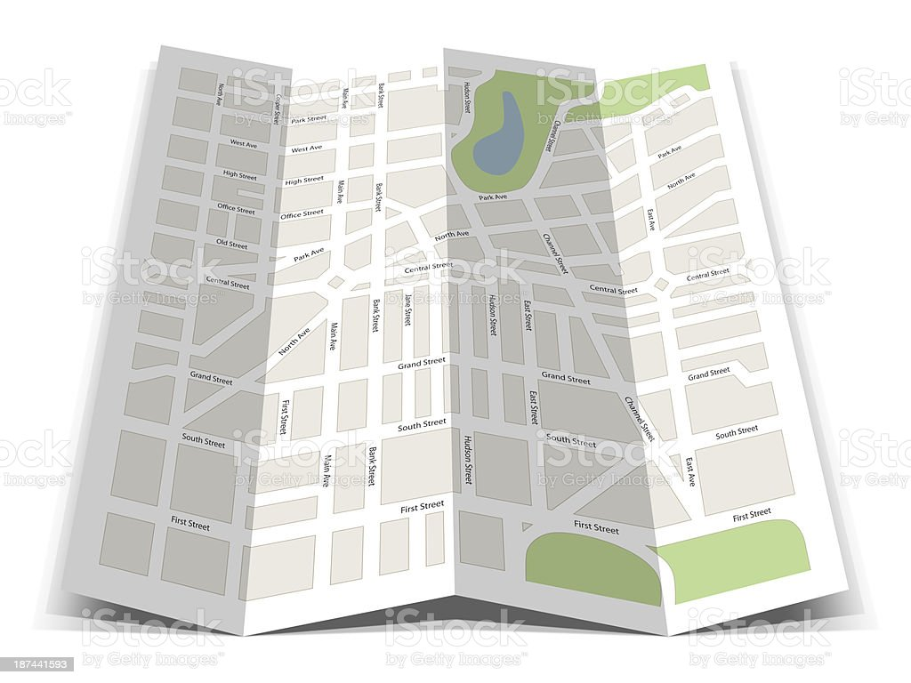Road Map royalty-free stock photo