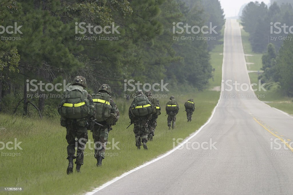 Road March royalty-free stock photo