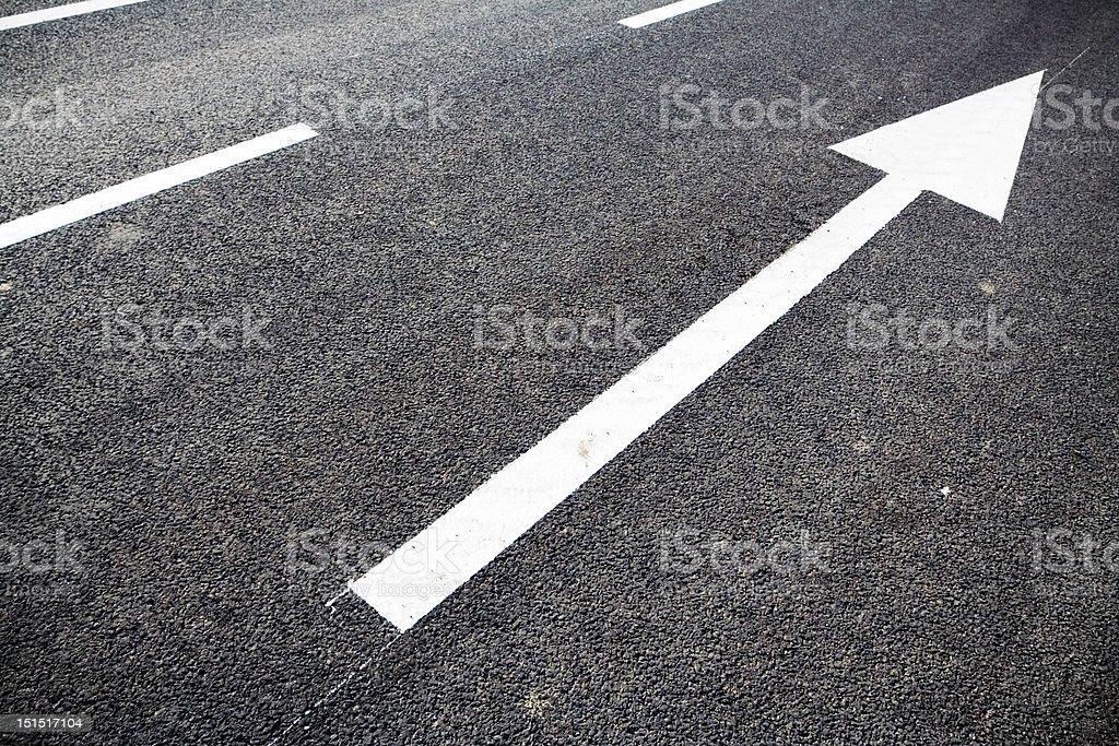 Road marking arrows stock photo