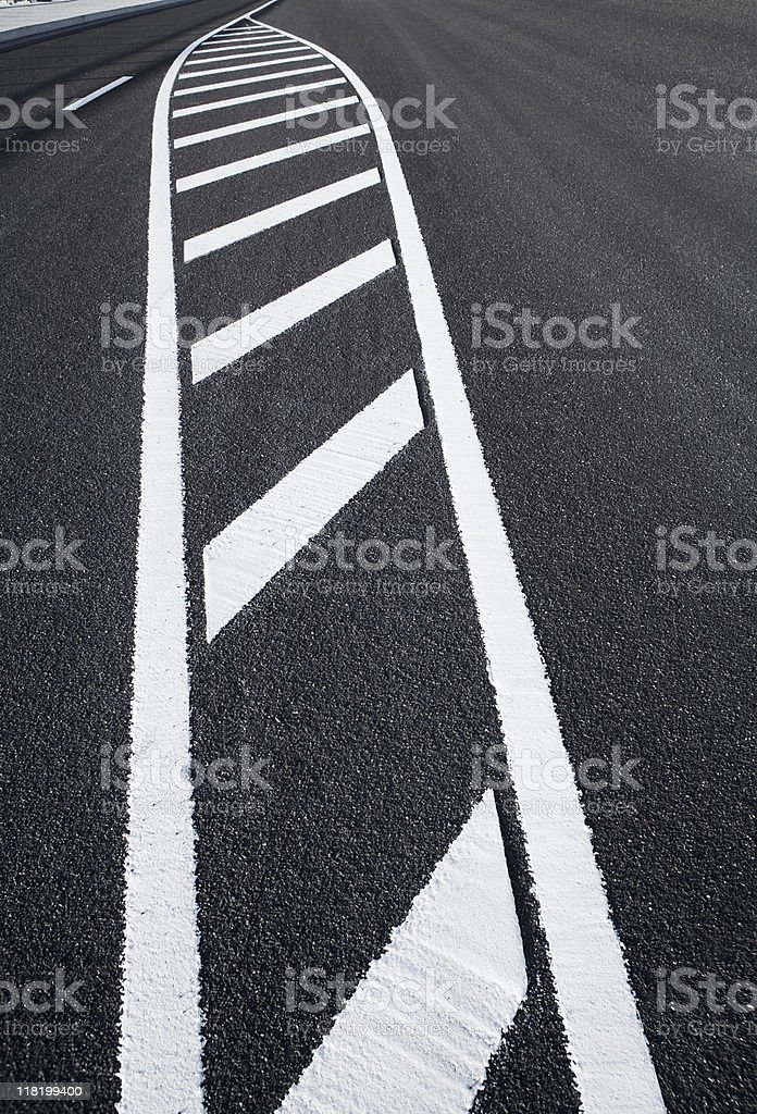 Road marking on the street royalty-free stock photo
