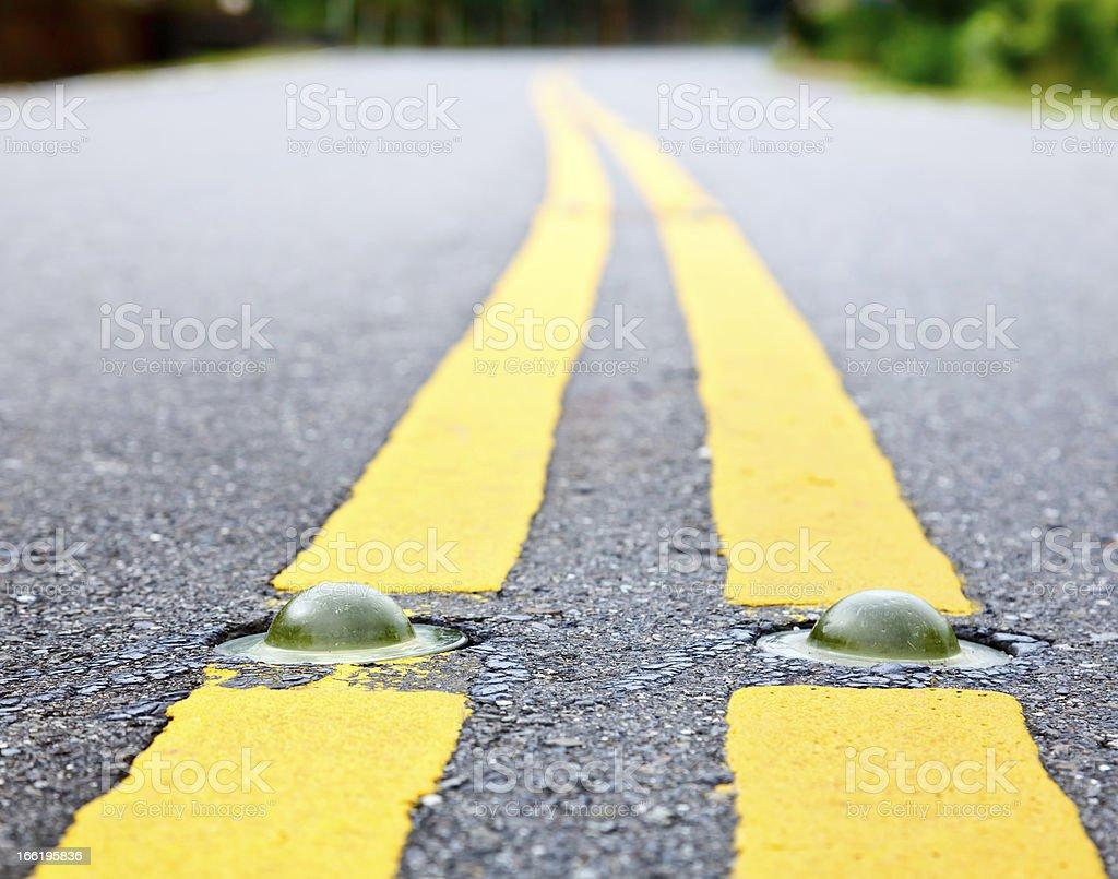 Road marking royalty-free stock photo