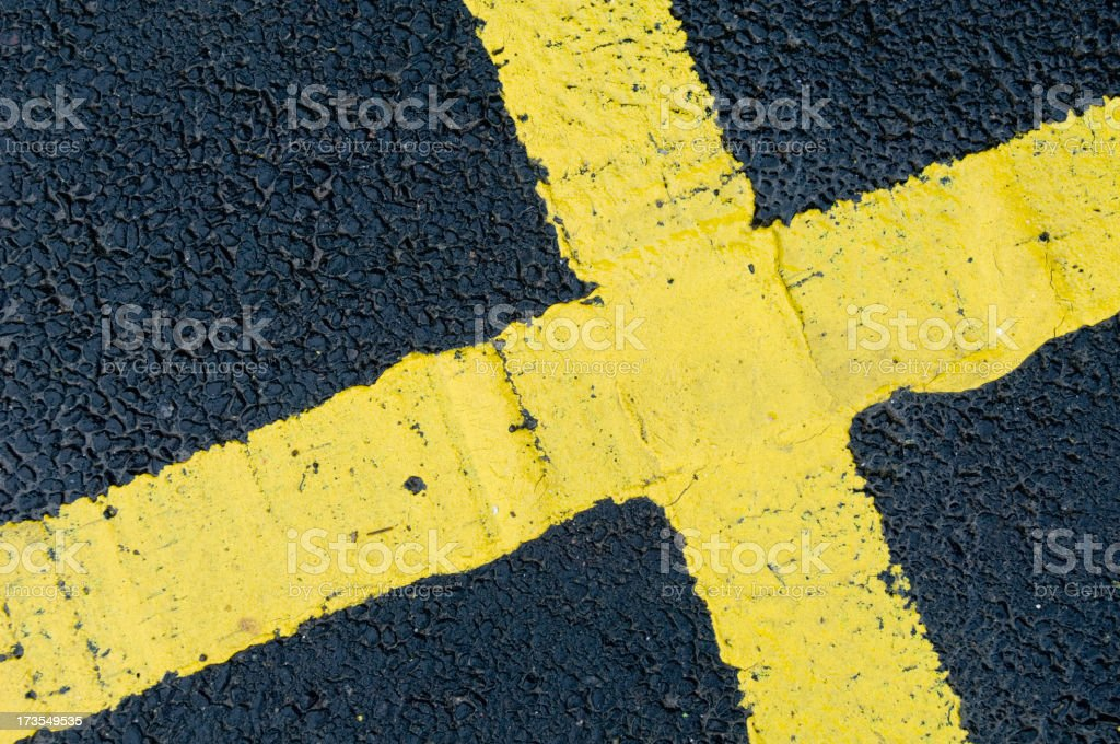 Road marking royalty-free stock photo