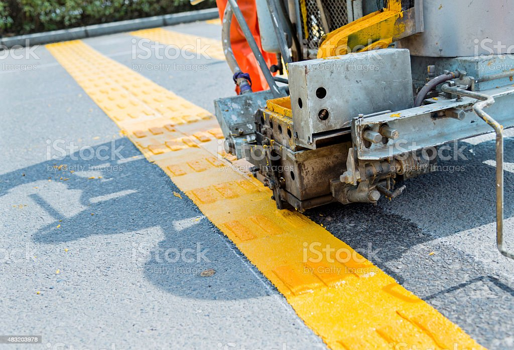 road marking stock photo