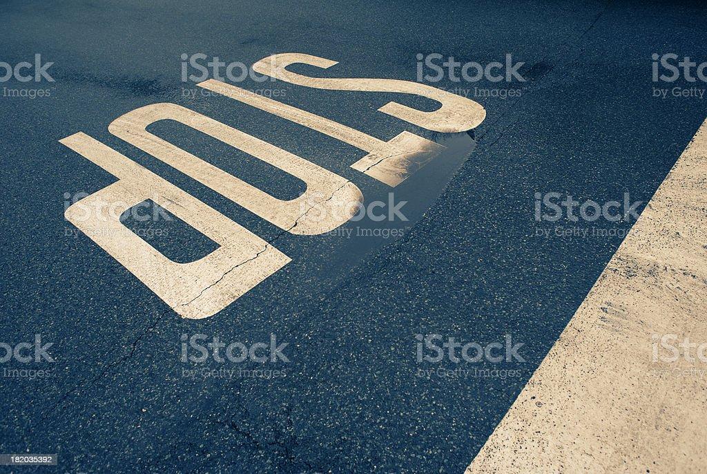 Road marking, STOP royalty-free stock photo