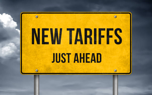 Road message - new tariffs just ahead Road message - new tariffs just ahead tariff stock pictures, royalty-free photos & images
