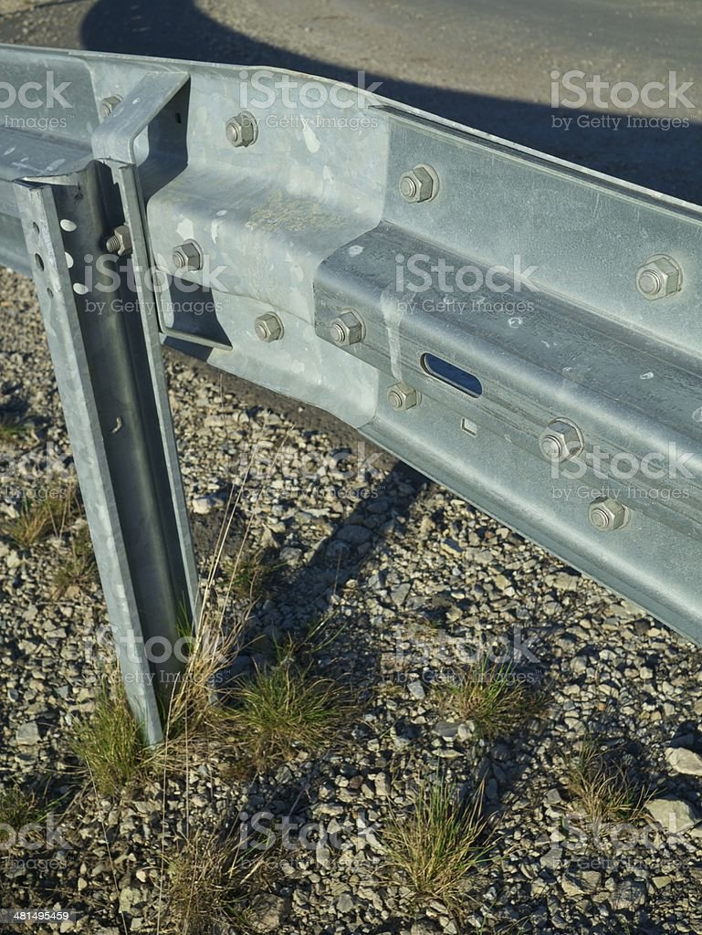 road metal barrier royalty-free stock photo