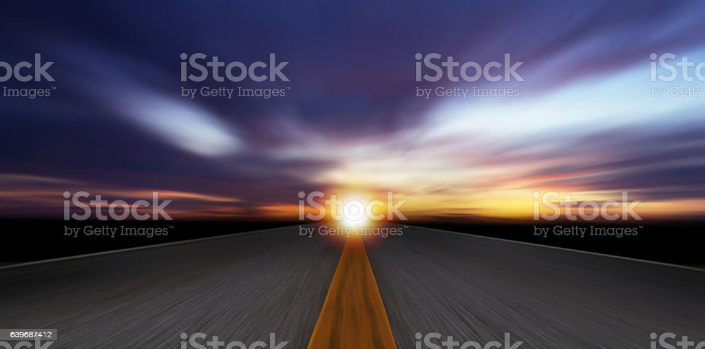 Road Motion Blur stock photo