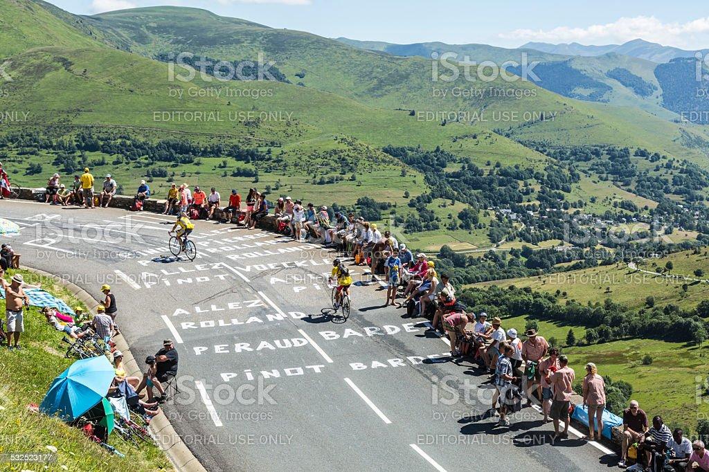 Road of Le Tour de France stock photo