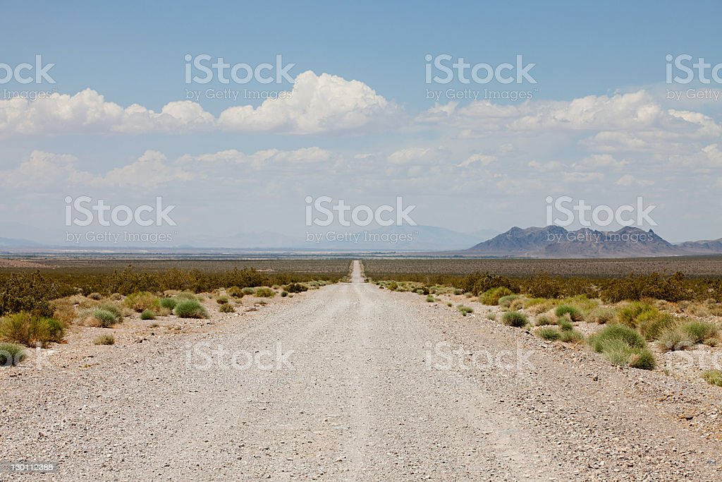 Road off Nevada State Highway 160, USA stock photo