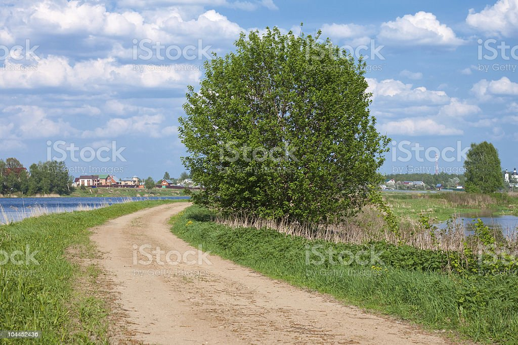 road on a river coast royalty-free stock photo