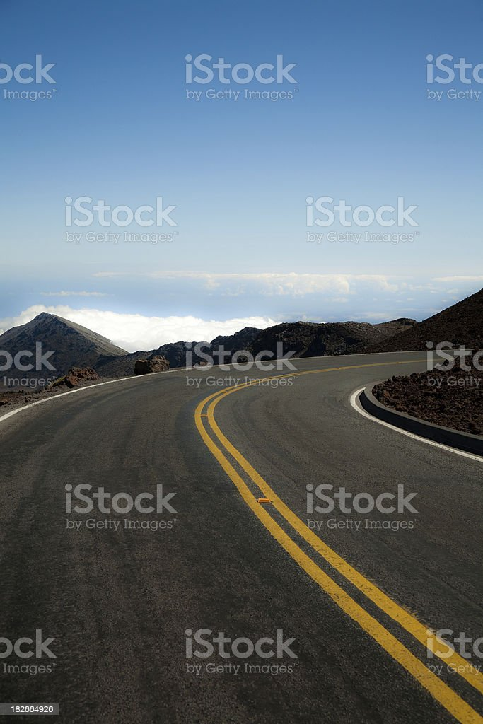 Road on Haleakala royalty-free stock photo