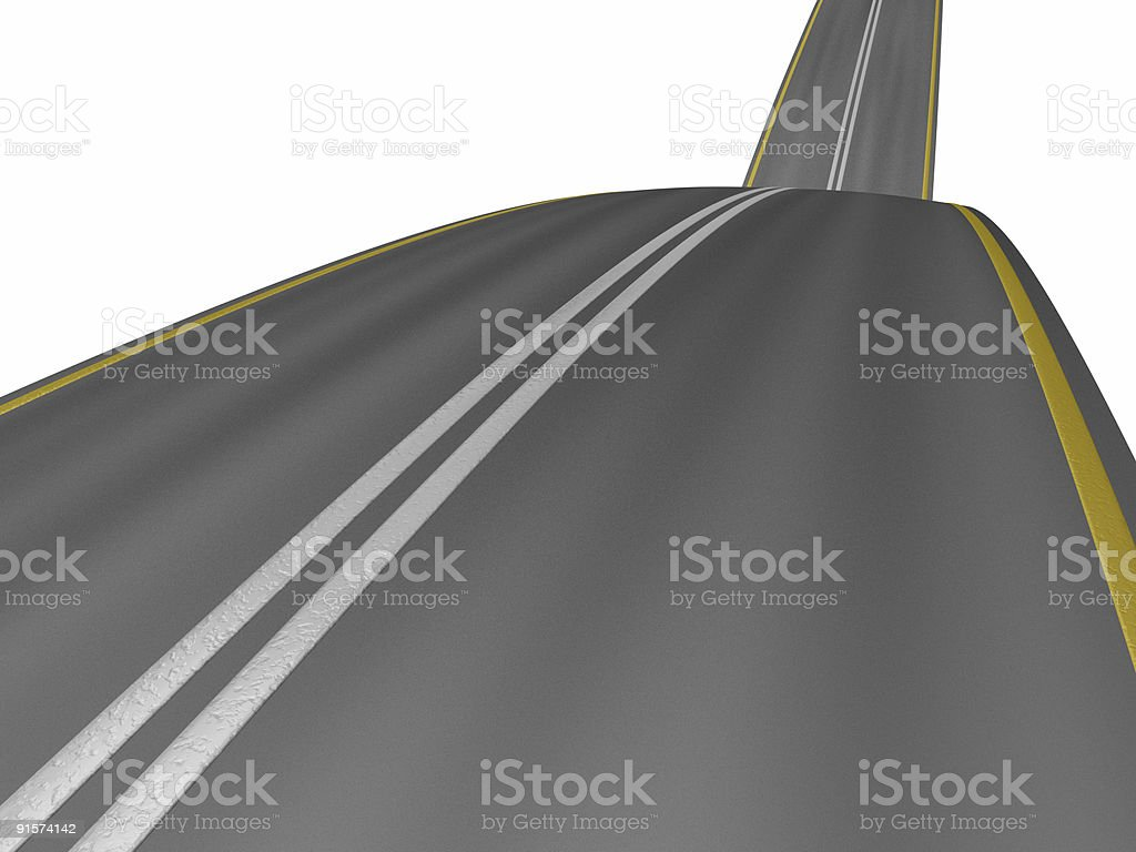 road on hills royalty-free stock photo
