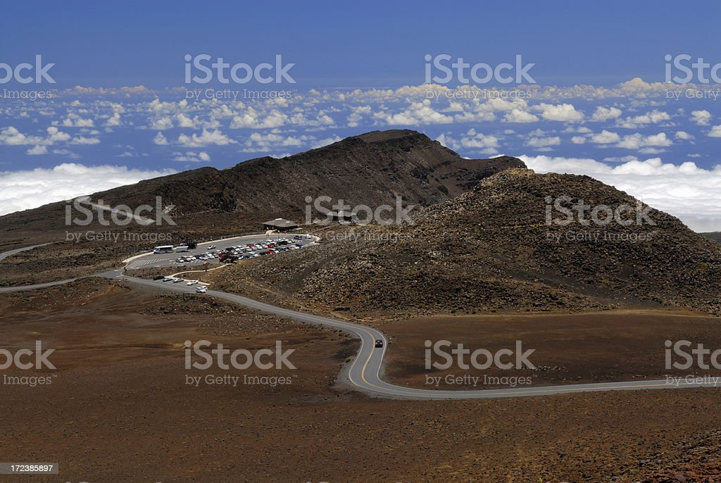 Road on Mountain Top royalty-free stock photo
