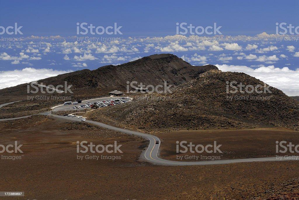 Road on Mountain Top stock photo