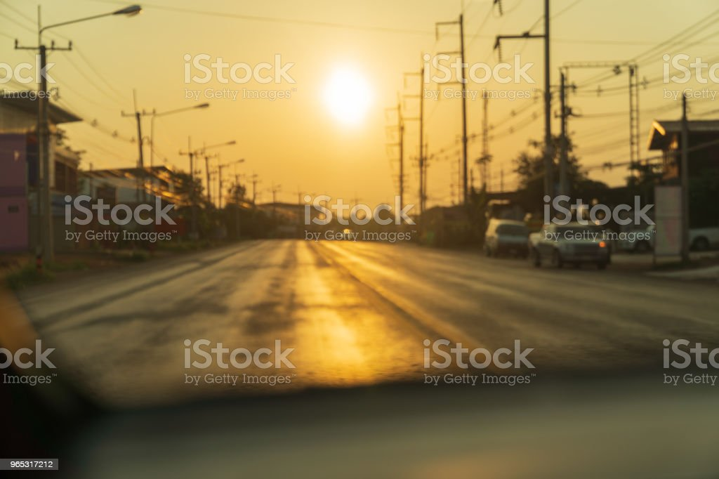 Road on sunset sky background. royalty-free stock photo