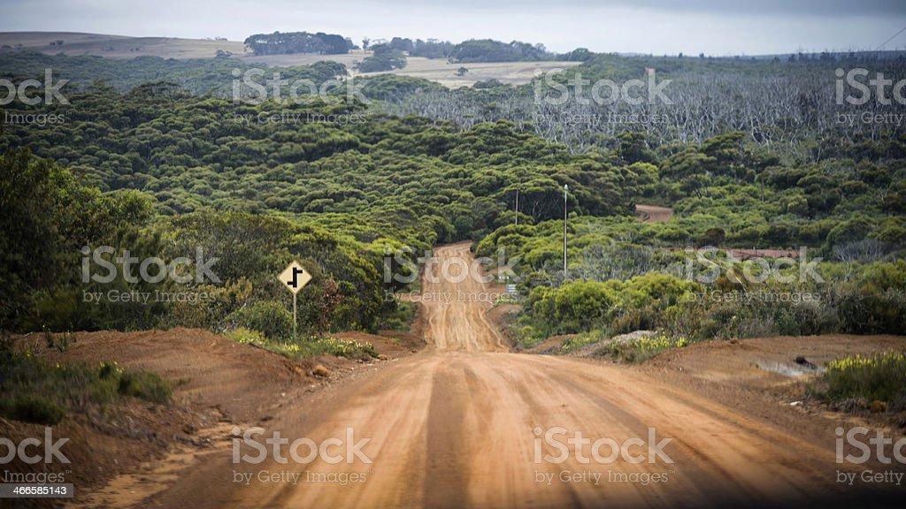 Road on the Kangaroo Island, Australia stock photo