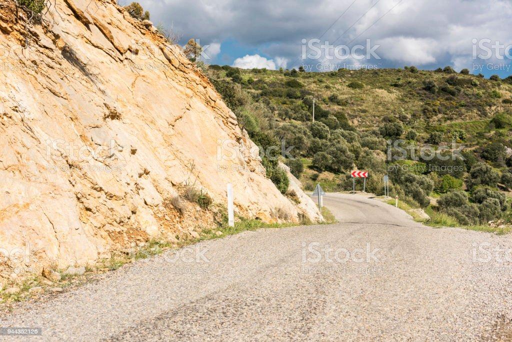 Road on the peninsula of Datça stock photo