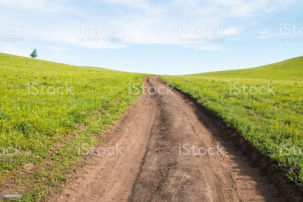 Road on the prairie royalty-free stock photo