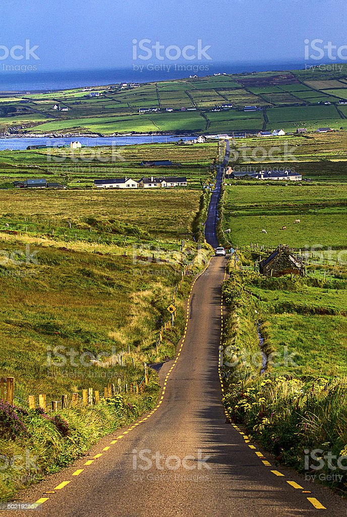 Road on the ring of kerry stock photo