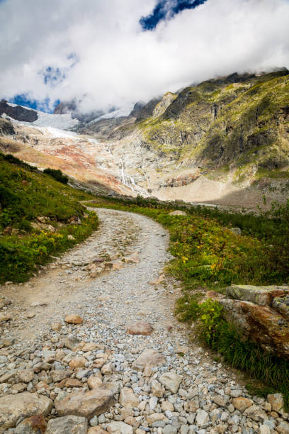 A road on The Tour du Mont Blanc Trail stock photo