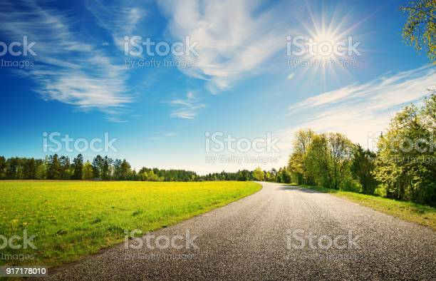 Photo of Road panorama on sunny spring day