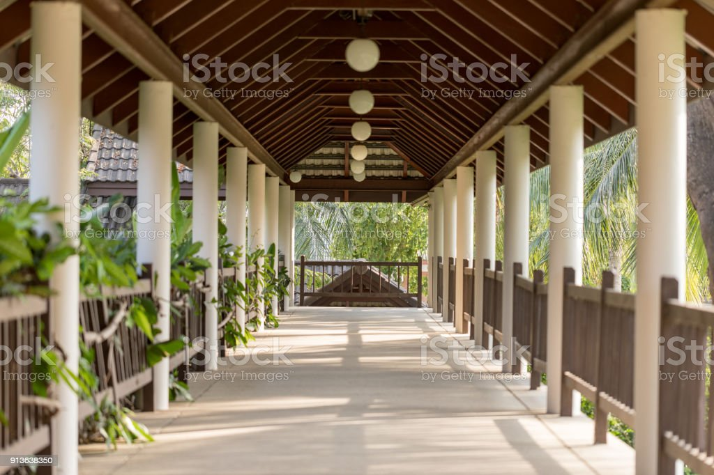 Road pathway indoor with Nature sunlight stock photo